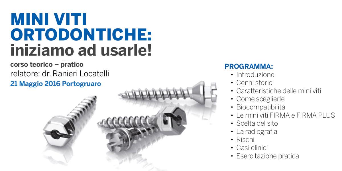 Nuovo corso per dentisti del dr. Locatelli